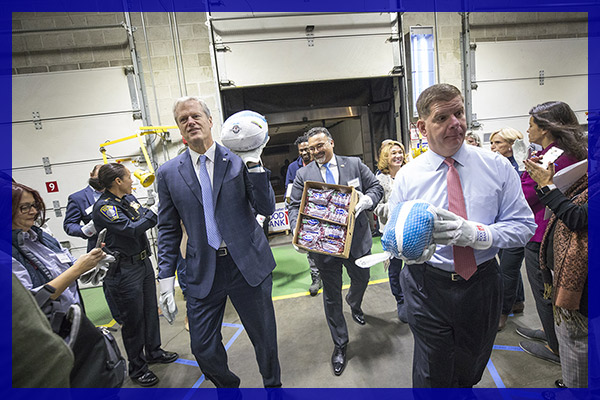 Mayor Marty Walsh and Governor Charlie Baker