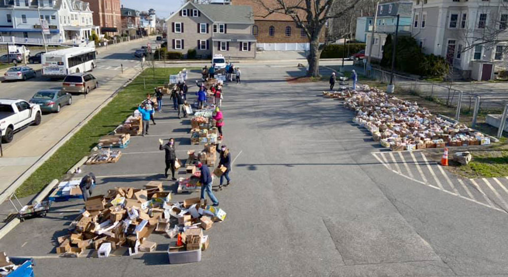 Fall River Mobile Market aerial view