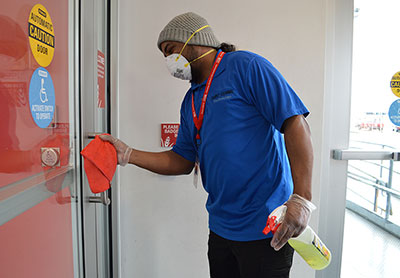 Cleaning and sanitizing the facility